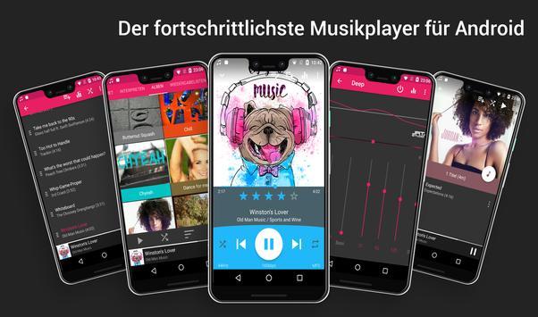 Audio Player : Rocket-Musikplayer Plakat