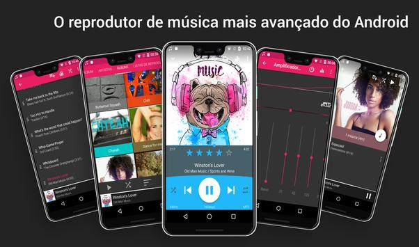 Music Player : Reprodutor de Música Foguete Cartaz