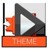 Material Dark Orange Theme icon