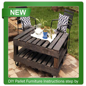 DIY Pallet Furniture Instructions step by step icon