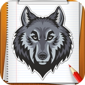 Learn How to Draw Wolves Step by Step icon