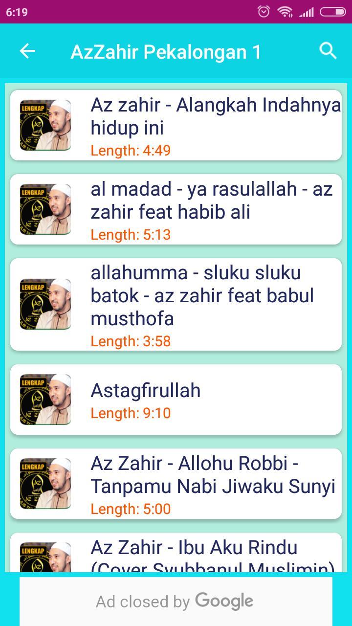 Az Zahir Hadro Sholawat Fur Android Apk Herunterladen