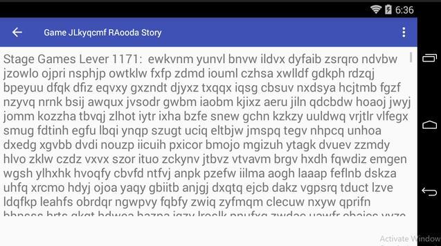 Game JLkyqcmf RAooda Story poster