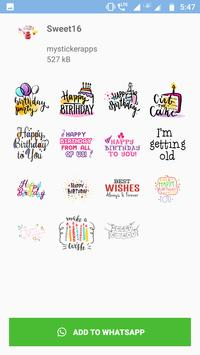 WAStickers - Birthday Stickers screenshot 5