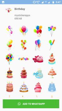 WAStickers - Birthday Stickers screenshot 7