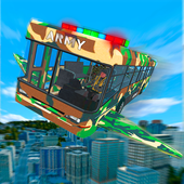 Flying Army Bus Simulator 2019: Transporter Games icon