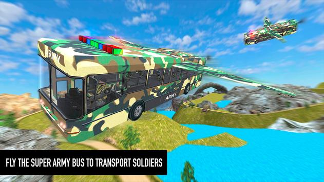 Flying Army Bus Simulator 2019: Transporter Games poster