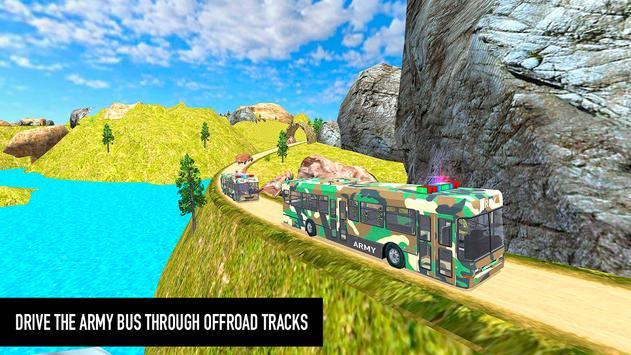 Flying Army Bus Simulator 2019: Transporter Games screenshot 1