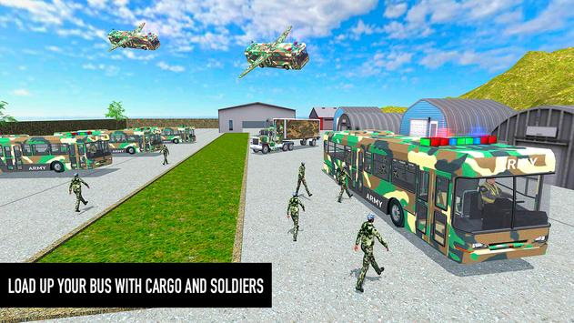 Flying Army Bus Simulator 2019: Transporter Games screenshot 5