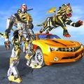 Futuristic Robot Tiger - Robot Transformation Game