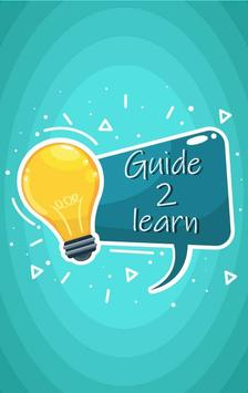 GuideMe2Learn-The Learning App poster