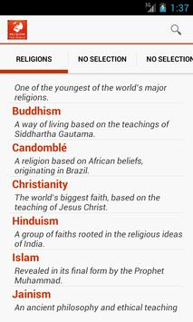 Religions of the world poster