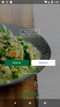 Food & Nutrition App poster