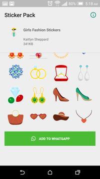Girls Fashion Stickers For Whatsapp screenshot 1