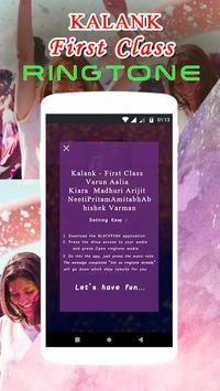KALANK Ringtone - First Class Song screenshot 1