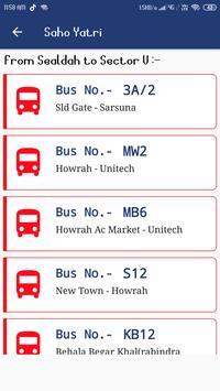 SahoYatri - Kolkata Bus Transport Application screenshot 2