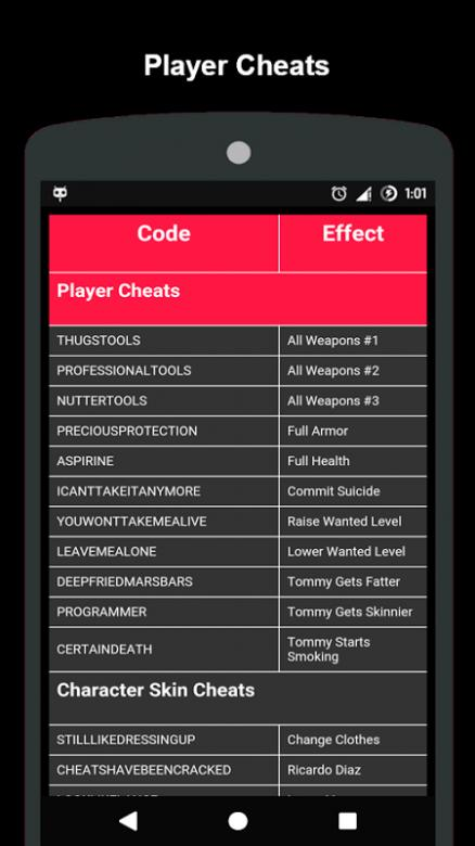 cheats codes for gta Vice City for Android - APK Download