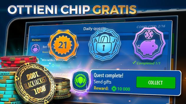 6 Schermata Blackjack