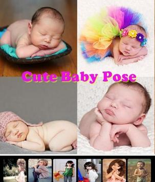Cute Baby Pose poster