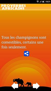 Proverbes Africains poster