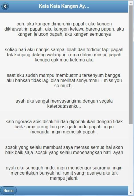 Kata Kata Kangen Ayah Dan Ibu For Android Apk Download