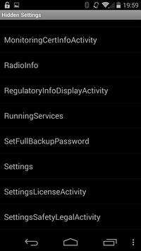 Hidden Android Settings screenshot 1