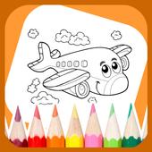 Planes Coloring Book icon