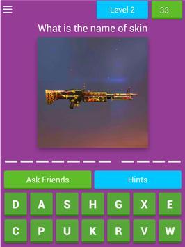Quiz FF Weapon Skin 2020 screenshot 5
