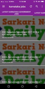 Karnataka Government Jobs poster