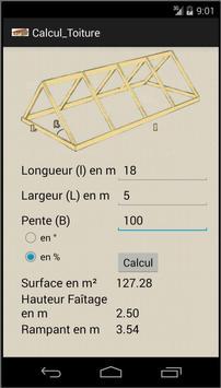 Calcul de surface de toiture screenshot 1