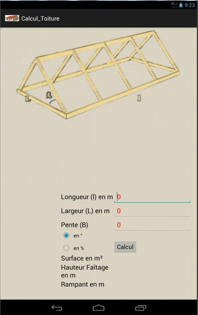 Calcul de surface de toiture pour Android - Téléchargez l'APK