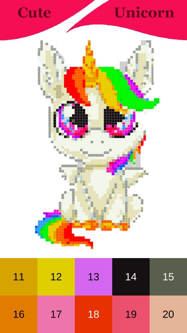 Kawaii Licorne Pixel Art Pour Android Téléchargez Lapk