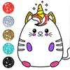 Kawaii Coloring Pages With Glitter - Drawing Book icône