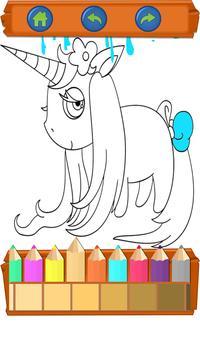 Unicorns Coloring Book- kawaii Cute for Kids poster