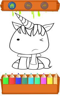 Unicorns Coloring Book- kawaii Cute for Kids screenshot 4