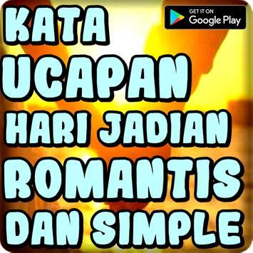 Kata Ucapan Hari Jadian Romantis dan Simple poster