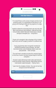 Kata-Kata Bijak Bahasa Inggris screenshot 3