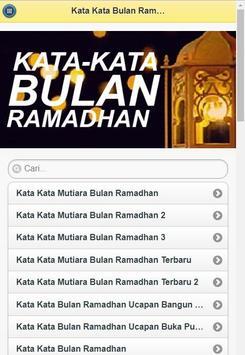 Kata-Kata Bulan Ramadhan poster