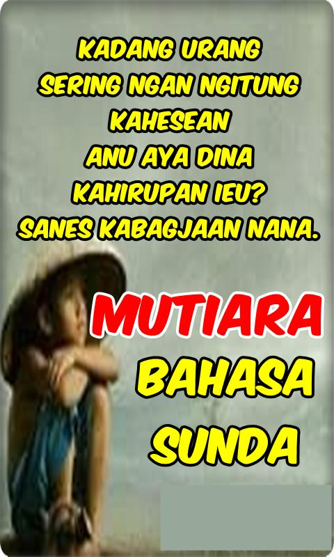 Kata Mutiara Bahasa Sunda For Android Apk Download