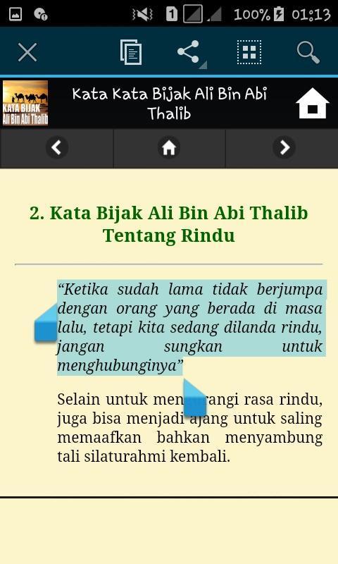 Kata Kata Bijak Ali Bin Abi Thalib For Android Apk Download