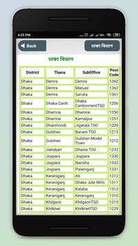 পোস্ট কোড post code bangladesh ও জরুরি ফোন নাম্বার poster