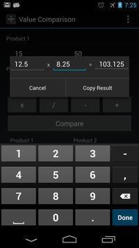 Value Comparison screenshot 2