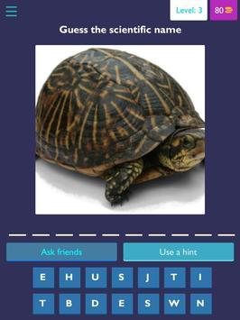 Scientific name quiz-Animals screenshot 1