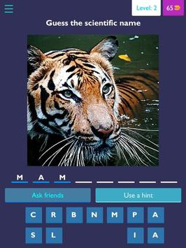 Scientific name quiz-Animals 3 6 9z (Android) - Download APK