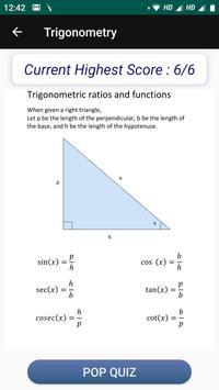 Learn Trigonometry Formulas screenshot 1