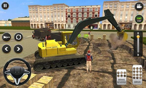 City Build Construction 3D - Excavator Simulator Cartaz