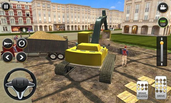 City Build Construction 3D - Excavator Simulator imagem de tela 2