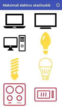 Maksimali elektros skaičiuoklė poster