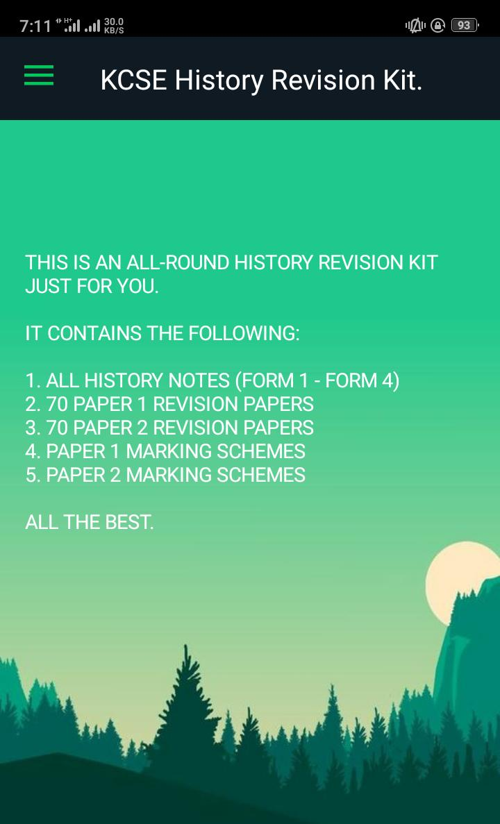 History Past Papers