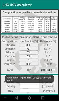 High calorie value calculator for LNG poster